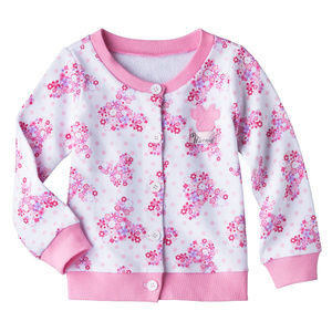 Disney Minnie Mouse Cardigan Pink Floral Toddler